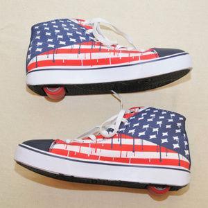 American Flag Heelys Sz 12